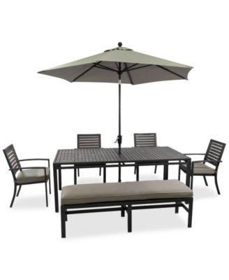 Marlough Outdoor Aluminum 6 Pc Dining Set 84 Quot X 42