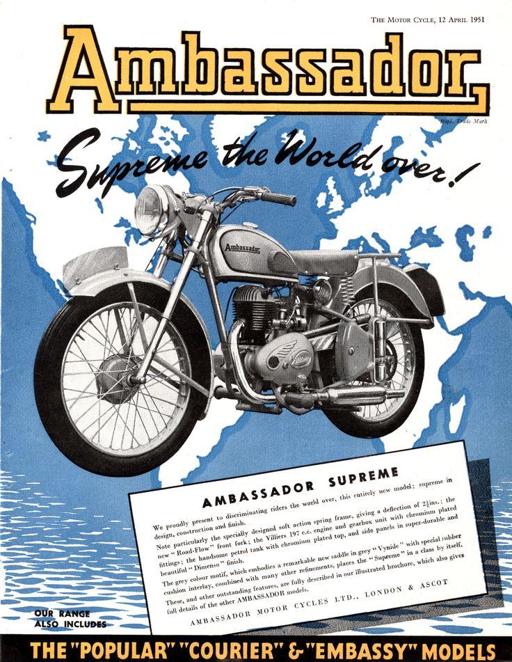 Ambassador Supreme The Motor Cycle 12 April 1951 Theo S