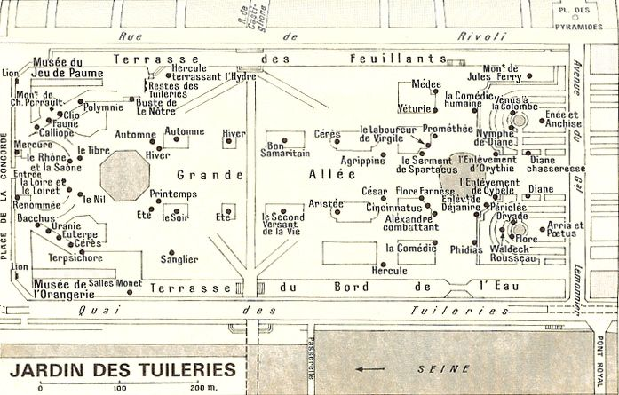 17 best images about le jardin des tuileries on pinterest - Plan detaille du jardin des tuileries ...
