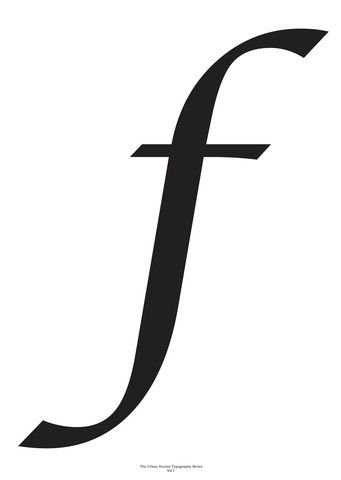Typography Art Print - 'F'