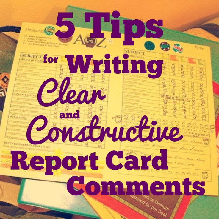How to write a good report card comment