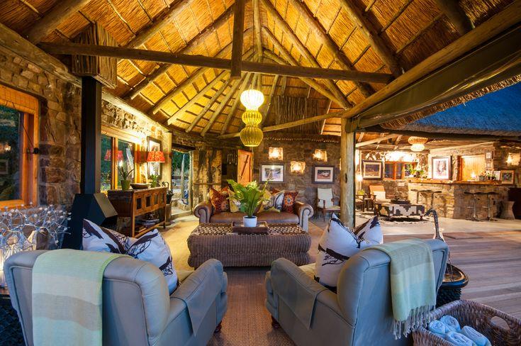 Main Lodge Lounge Area at HillsNek Safari Camp