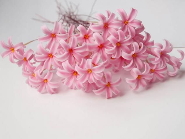 Flowers from cold porcelain - Part 2. Hyacinth. Detailed MC for Beginners - Fair Masters - handmade, handmade
