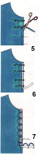 Застежка на воздушные петли | pokroyka.ru-уроки кроя и шитья
