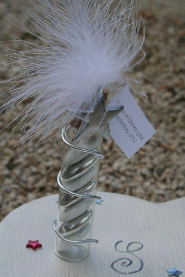porte tube en verre pour dragées mariage