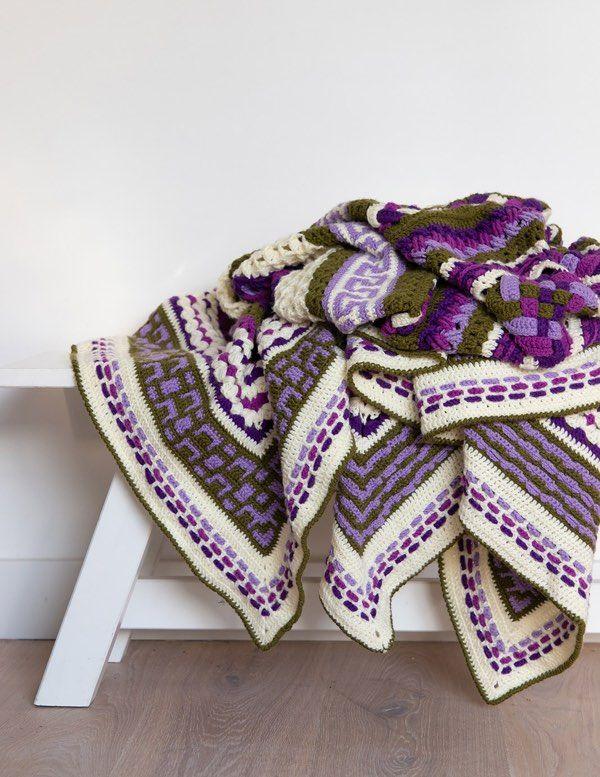 Complications Cal 2019 Purple It Is Haken Crochet Purple En Blanket