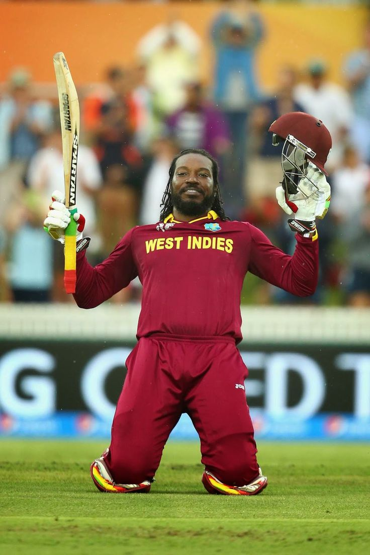 #BlackHistoryMonth: West Indian Cricketer Chris Gayle Scores World Cup's First-Ever 200  #cricket #sports
