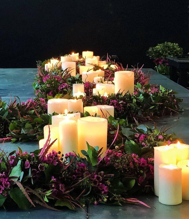 Beautiful flower garland centerpieces #romantic#flowers#florist#sweetbloomsatelier #hermosabeach #manhattanbeach #london#workshop#mcqueenflower #mcqueensflowerschool #garland#event#wedding#losangeles