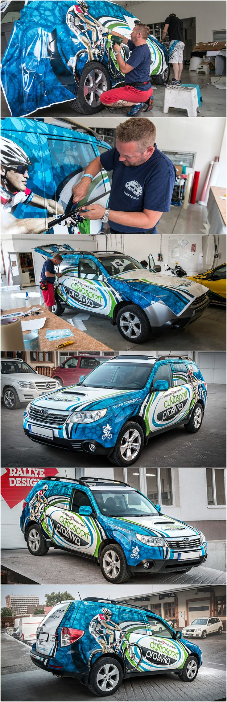 Design and wrap of Subaru Forester for company Cyklosport Prašivka
