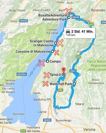 Excursions on Lake Garda in the sun and rain