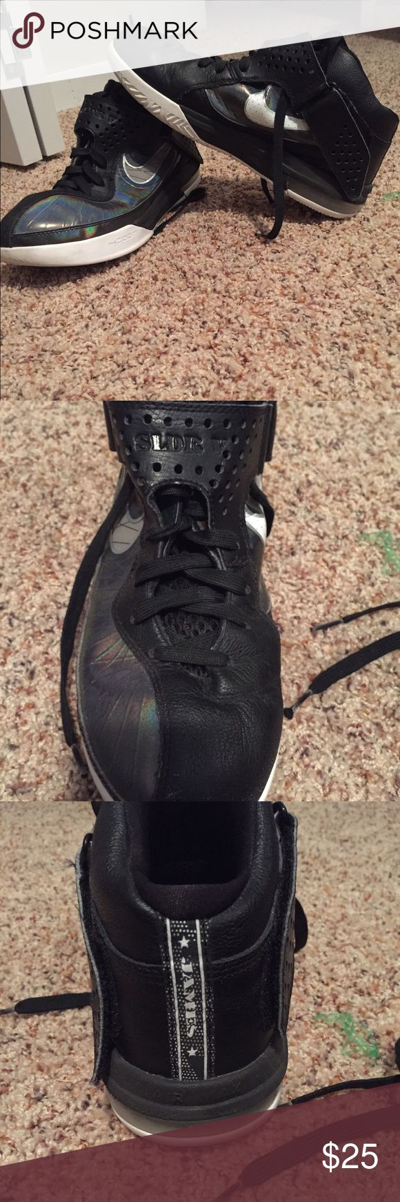 Lebron James basketball shoes Used but good condition Lebron James Basketball shoes. I don't play basketball anymore so I no longer need these Nike Shoes Athletic Shoes