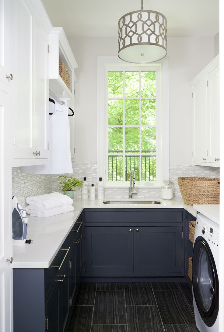 Laundry/Wash Room: Erika Bonnell Interiors @ House of Turquoise