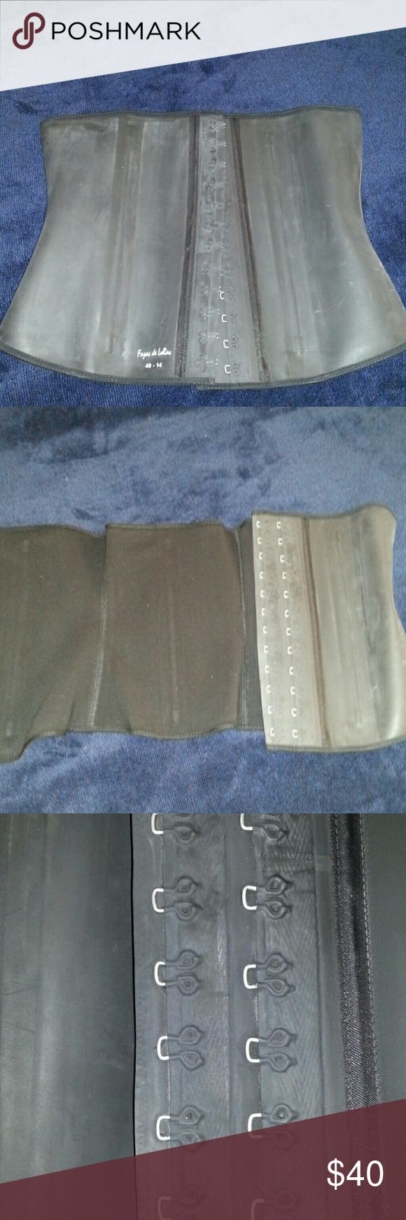 Latex Waist Trainer Handmade Colombian waist trainer. Authentic quality faja direct from Colombia. Brand new never worn, this style because of the outer latex shell starts to grey so I sell them here for an extremely discount price. I sell the ones that arrive without flaws for full price on my website & in store. Other