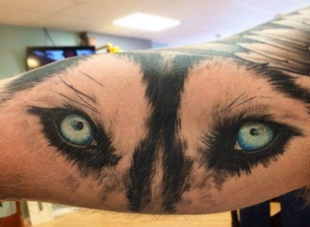 husky eyes tattoo
