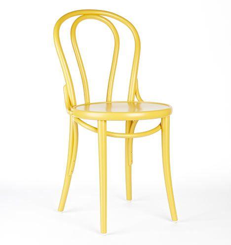 Ton Bentwood Bistro Chair Honey Yellow D6089