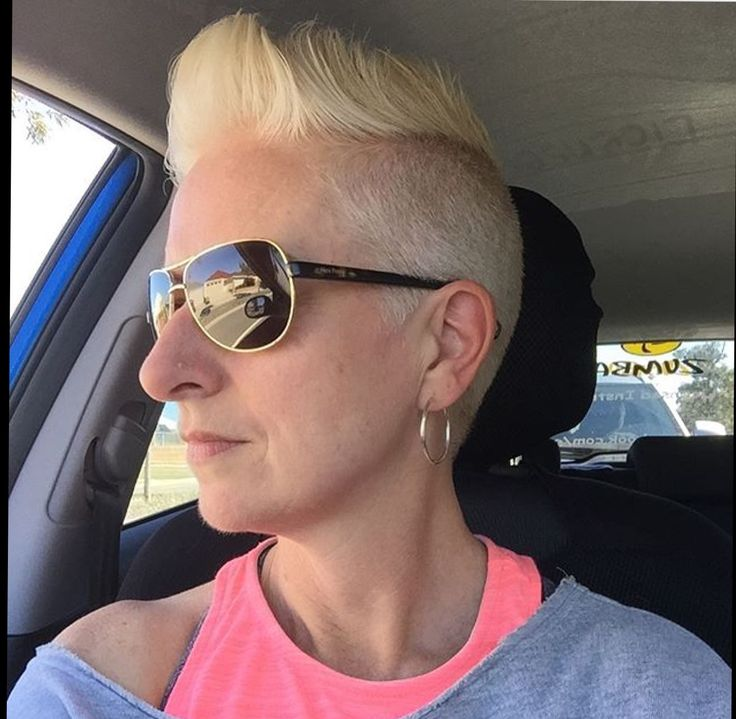 Love my Mohawk haircut, it's super easy to manage.