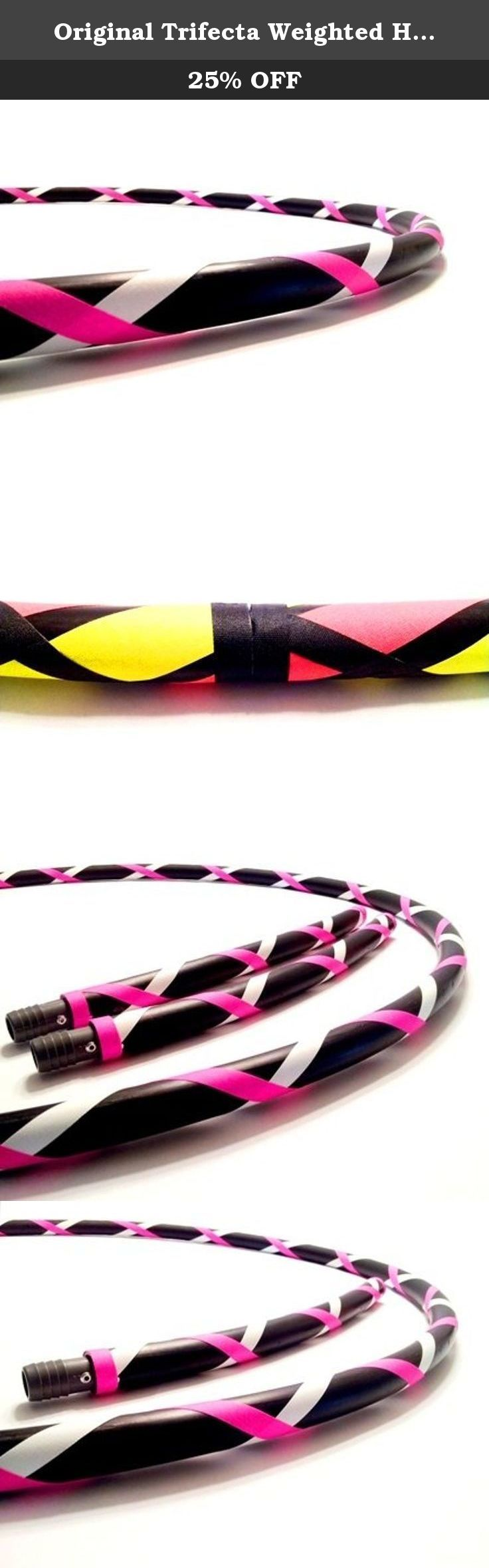 "Original Trifecta Weighted Hula Hoop (Fitness Guru Pink)3 Hoops in 1 (40"" 1 Hula Hoop). DIRECT FROM THE MANUFACTURER. Featuring the original manufacturer of the ""TRIFECTA"" the newest innovation in hula hooping. Paradise Hoops is formally the manufacturer for about 90% of Hoopnotica's handmade hula hoops. We have the BEST QUALITY BEST PRICE. This ""TRIFECTA"" hula hoop was created by Janou Lightning former team leader of Hoopnotica. She took her expertise in the hooping industry and made a…"