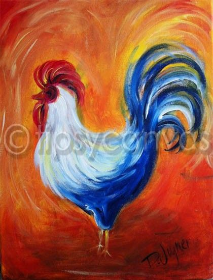 Tipsy Canvas: Rooster