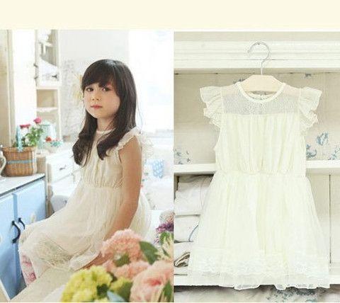 Vintaged Inspired Flower Girl Dress- Girl White Dress - Loved by Chloe