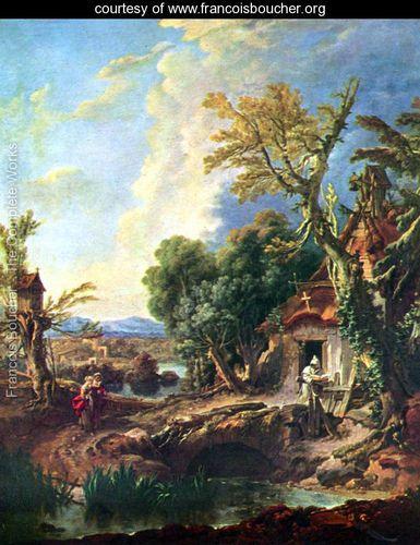 Landscape with his brother Lucas - François Boucher - www.francoisboucher.org