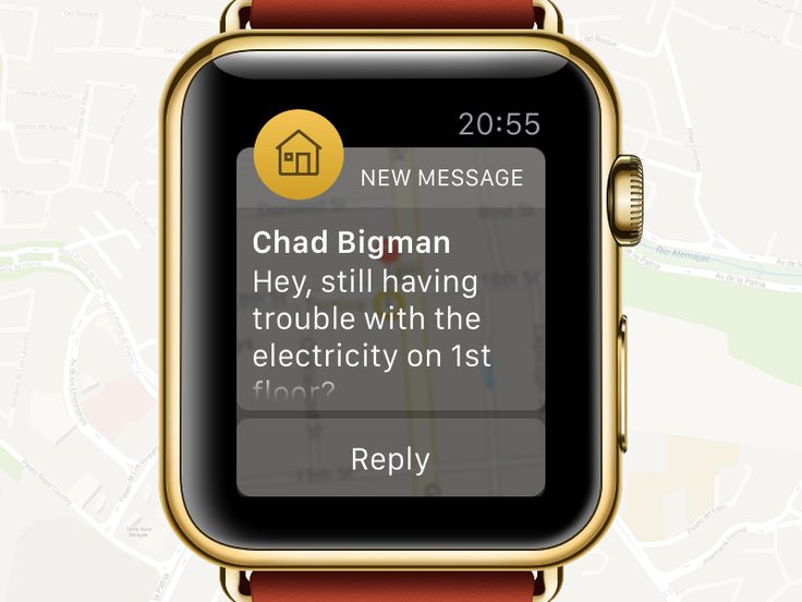 Llaveo Apple Watch messages