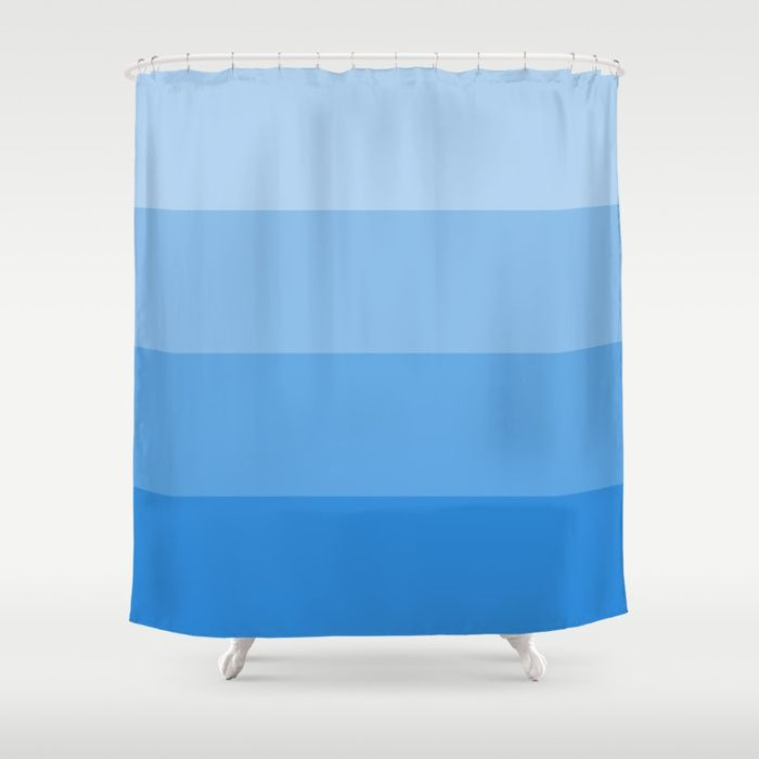 Buy Four Shades of Blue Shower Curtain by shelleyylstart.     #S6GTP ~ Created by one of my friends  at  Society6  -