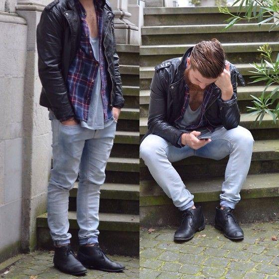 H&M Jacket, Zara Shoes, Topman Trousers