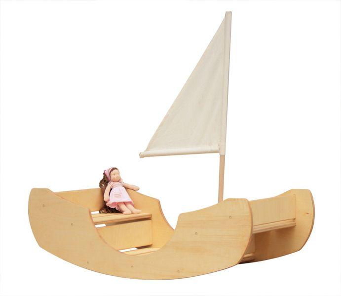 Holzspielzeug - Schaukelschiff Schaukelwippe Schaukeltreppe - ein Designerstück von goldrabe bei DaWanda