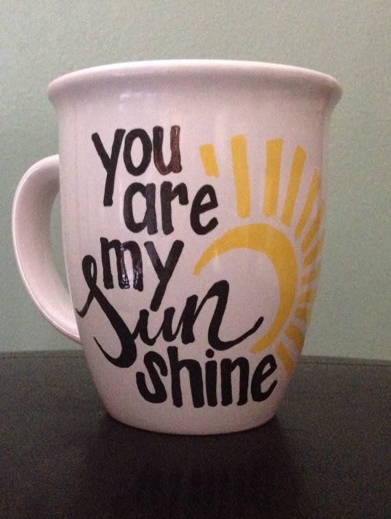 You are my sunshine coffee/tea mug by ThisAndThatSD on Etsy