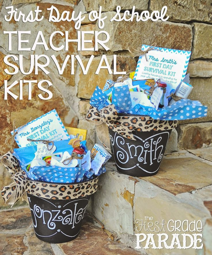 Awesome gift for teachers or teammates on the 1st day of school!