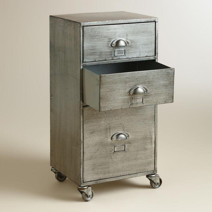 Metal 3-Drawer Jase Rolling File Cabinet | World Market