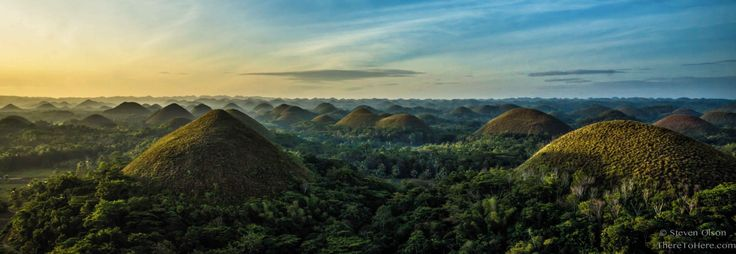 Chocolate Hills Natural Monument. Hill in Bohol, Philippines