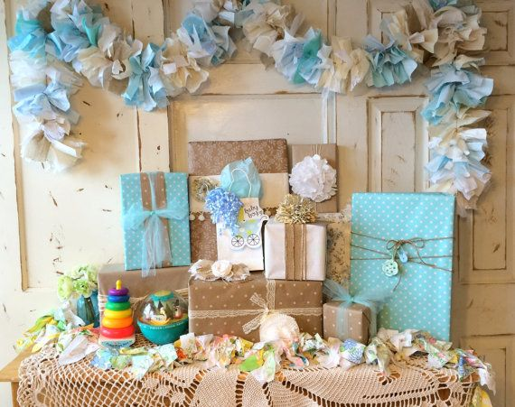 Burlap It's a Boy Baby Shower Party banner 6-10 by QuiltedCupcake
