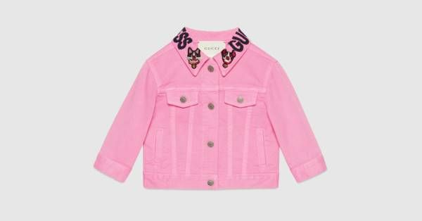 Gucci Baby denim jacket with Bosco and Orso
