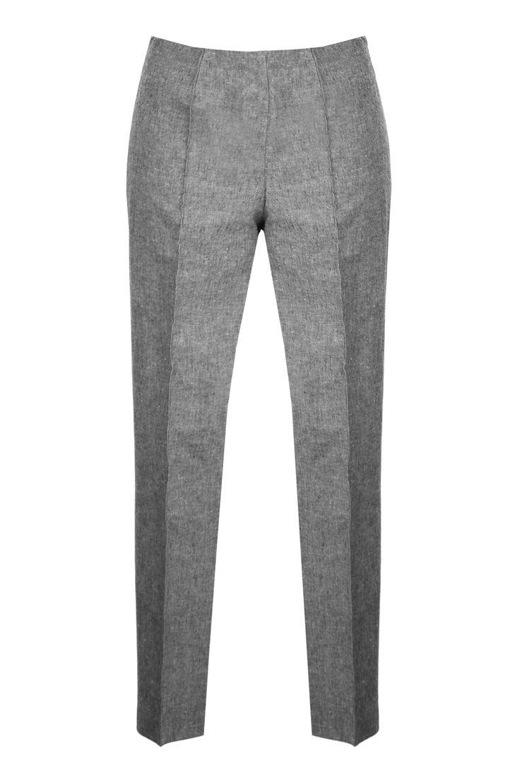 Spodnie eleganckie szare w kant