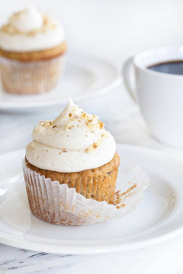 Banana Cupcakes with Cream Cheese Frosting will be a hit at any party. These will definitely disappear quickly!