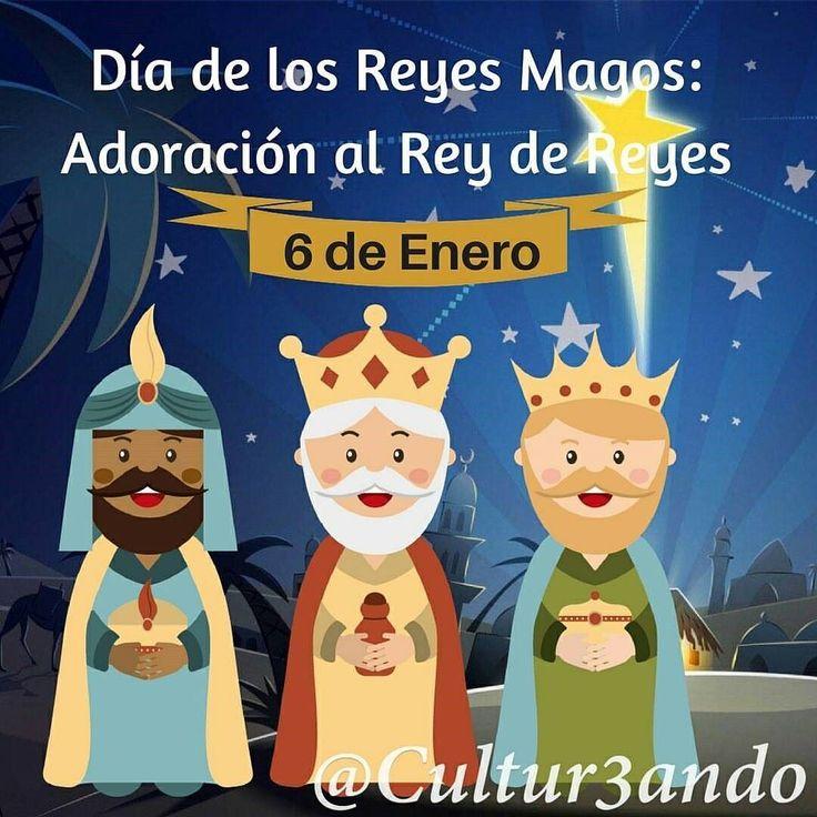 """Feliz día de Reyes! . . . repost @cultur3ando Día de los Reyes.  Cada 6 de enero se celebra """"Día de los Reyes Magos'' llamados así a Melchor Gaspar y Baltasar quienes visitaron a Jesús de Nazaret al nacer estos fueron guiados por la """"Estrella de Belén'' para adorarle y llevarle tres obsequios: Oro incienso y mirra.  #ReyesMagos #Celebracion #Cultura #Historia #Cultur3ando #Ideologia #Fe"""