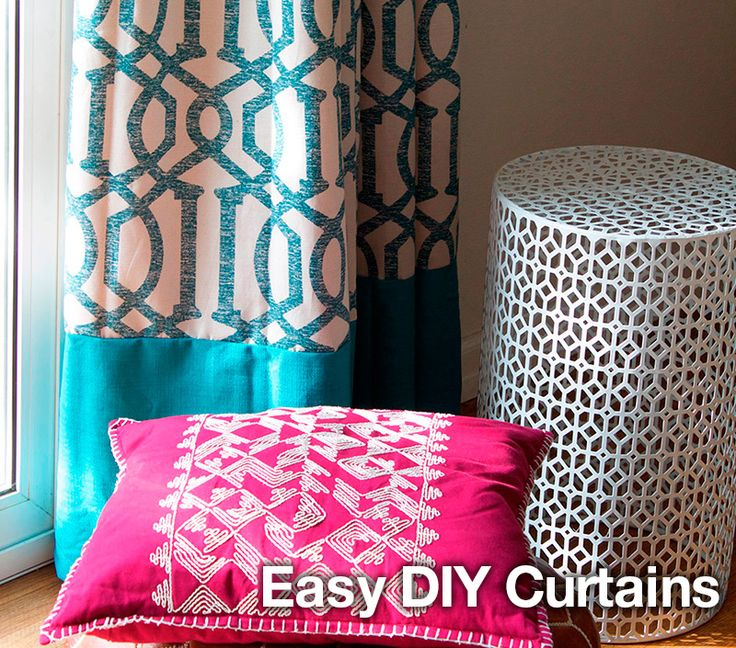 DIY Curtains tutorial: how to make easy, cheap window curtains that are perfect for a living room or bedroom!