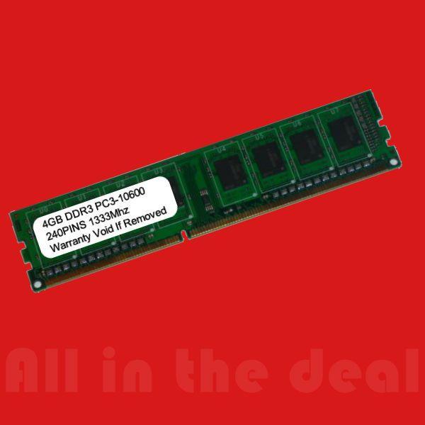 Memory RAM 170083: 4Gb Ddr3 1333Mhz Pc3-10600 240 Pin