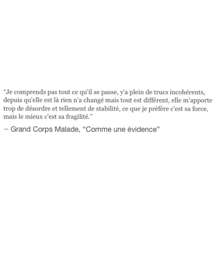 "Grand Corps Malade ""Comme une évidence"""