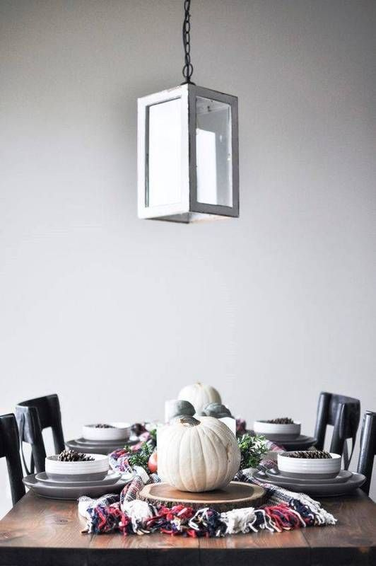 thanksgiving tablescapes minimalist fall table setting