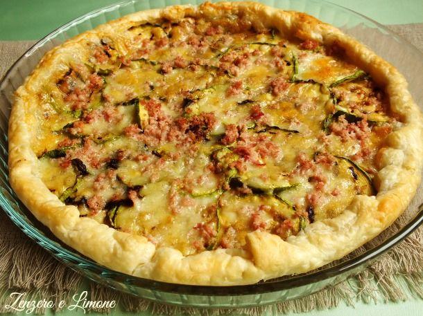 torta salata zucchine mozzarella prosciutto