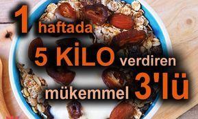 Diyet yapmak için, uzun ve meşakatli yollara girmenize gerek yok . Az sonra vereceğiniz 3'lü ile 1 haftada 5 kilo vereceksiniz. Hem de zayıflarken vücudunuz yorgun ve halsiz kalmayarak tamamen tüm vitamin ve besinlere vüdunuz doymuş olacak. Yulaf İçerdiği yüksek protein ile vücdun tüm gereksinimi 100 gr yulaf karşılamaktadır. Yulafın içerisinde bulunan diğer mineraller ile …