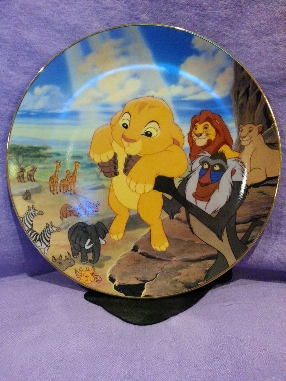 Vintage Lion King Collectible Plate Quot The Circle Of Life
