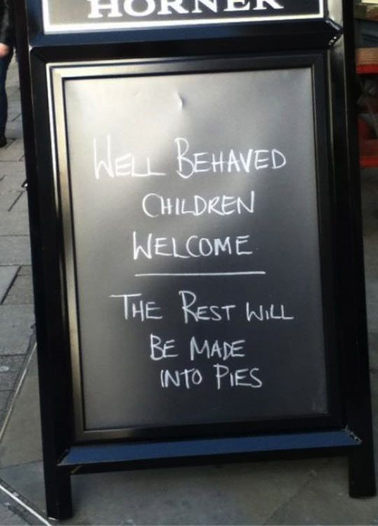 More restaurants should have a rule like this…