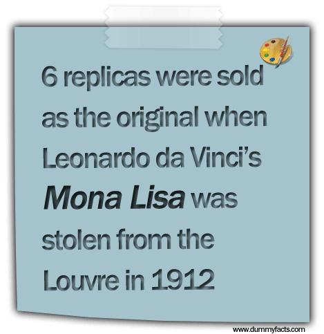 http://www.dummyfacts.com/6-replicas-were-sold-as-the-original-when-leonardo-da-vincis-mona-lisa-was-stolen-from-the-louvre-in-1912/