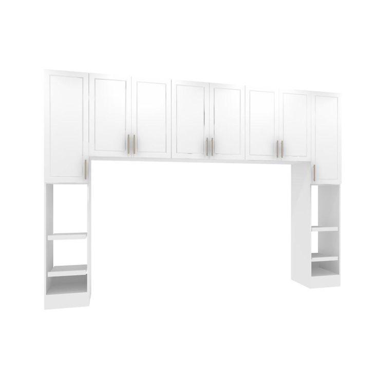 Madison White King Size Bed Surround Cabinets