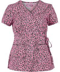 Koi Scrubs Cool Cheetah Pink Print Top.....LOVE PINK CHETTAH PRINT!!!