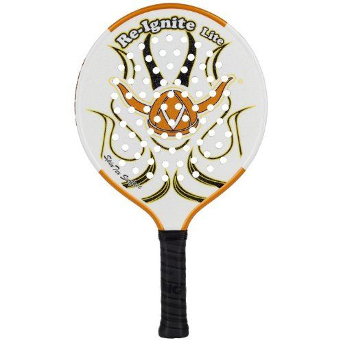Viking Re-Ignite Lite 2 Racquet (4 1/4-Inch) by Viking. Save 22 Off!. $124.90. Designed with the same over-sized hitting surface and low density core, players are going to love this new lighter weight version of the Re-Ignite. Now players can experiance an oversized sweetspot it the soft feel in an ultra-light paddle!  Weight: 12.9oz, 370grams. Power Rating: 5. Core Density: Low. Surface Feature: SpinTex. Surface Area: 47. 6sq in. Beam: 19mm. Overall Length: 18 in. Handle L...