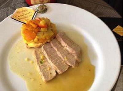 Recette champagne - Veau sauce à la main de Bouddha et tatin de légumes d'automne au curcuma We love Champagne: www.the-champagne.ch Zürcher-Gehrig AG Switzerland @ZGAChampagne www.facebook.com/pages/Zurcher-Gehrig-AG